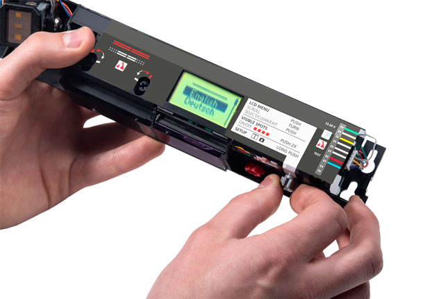 Spracheinstellung des Interface beim Ixio-Sensor für automatische Türen von BEA