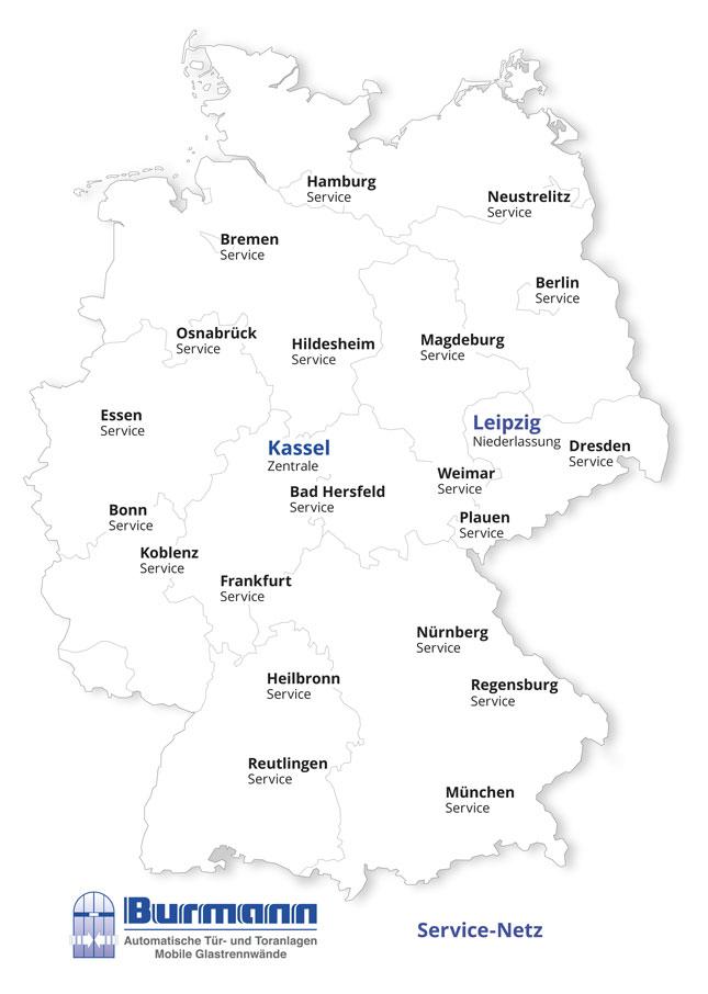 Burmann Service Karte 2018